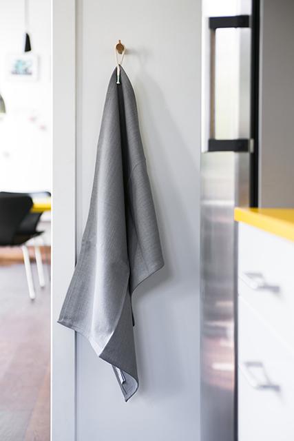 Link wall hook with Chroma tea towel